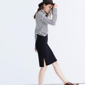 Madewell Column Side-Slit Skirt